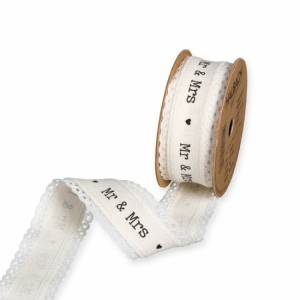 Band med text Mr & Mrs (ca. 5 meter)