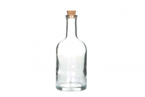 Glasflaska med kork 400 ml