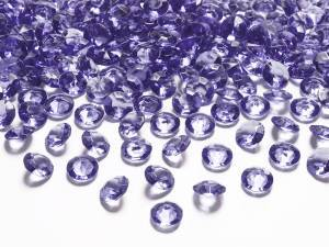 Violett diamantkonfetti, 12 mm/st, 100 st