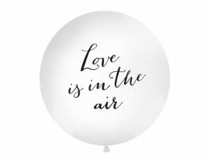 "Ballong, stor, vit, ""Love is in the air"""