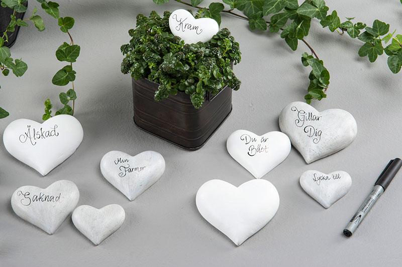 Hjärtan att skriva på