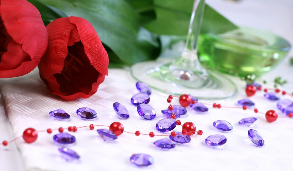 Diamantkonfetti för dekoration