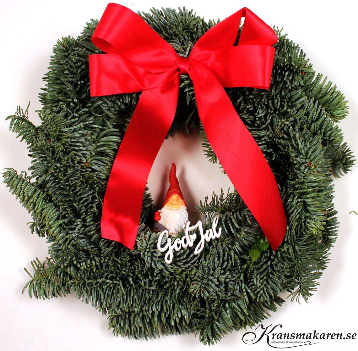 julkrans till dörren