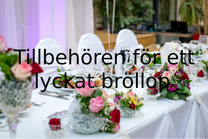 Kransmakaren har tillbehören för bröllopet och festen