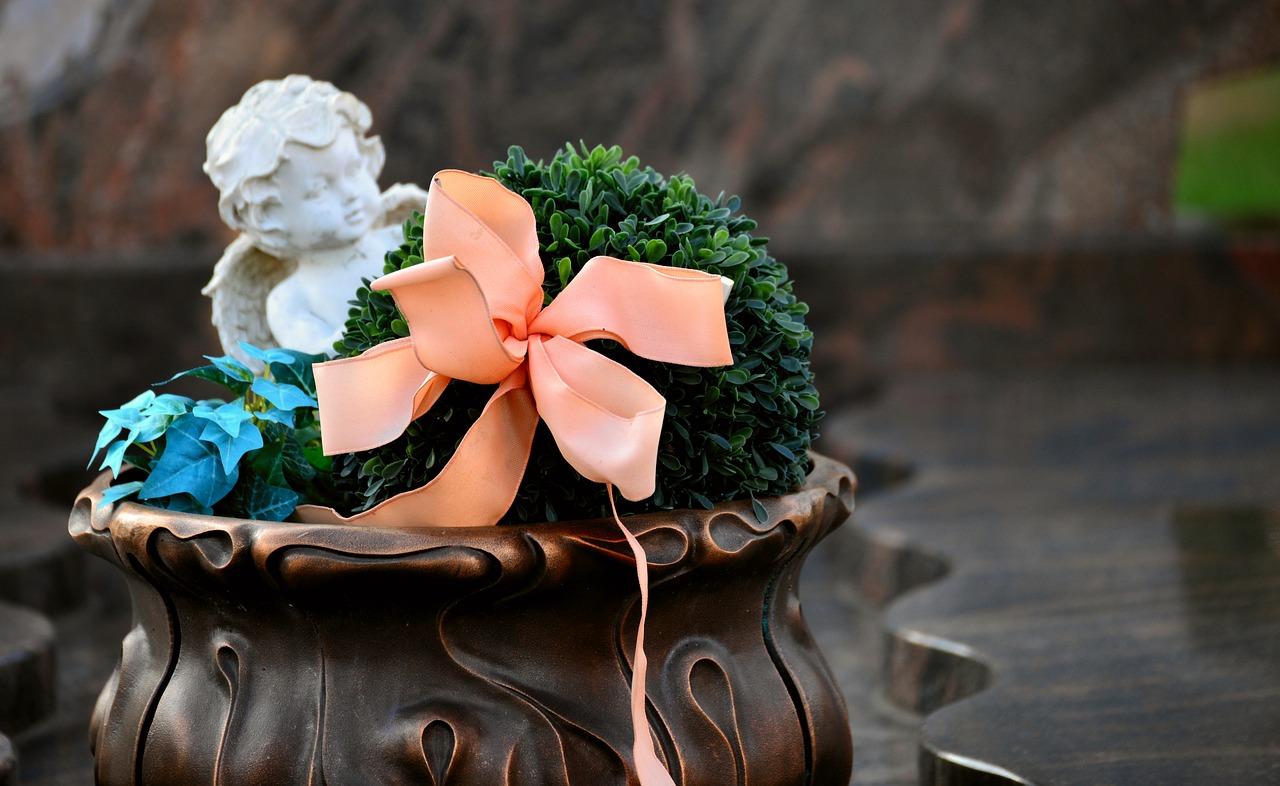 Tillbehör inför en begravning