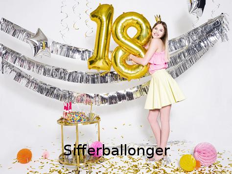Ballonger med siffror
