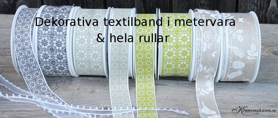 Textilband i metervara
